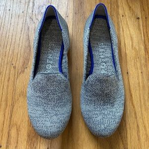 Rothy's Grey taupe heather loafers size 5